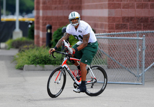 Kellen Winslow on a bike