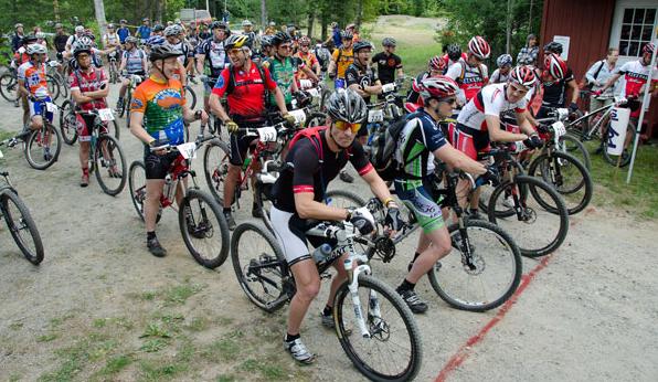 Mountain bike race start
