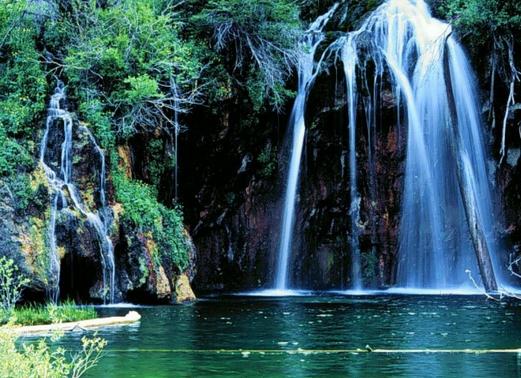 Waterfall peaceful image