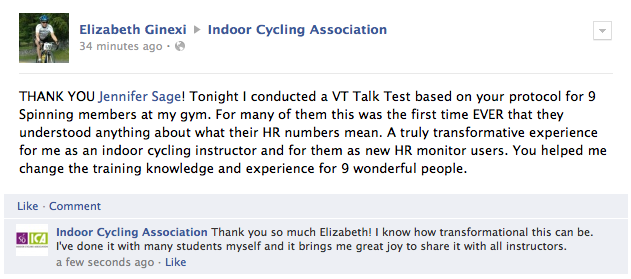 Elizabeth conducted Talk Test thanks to me, changed the lives of her students
