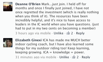 ICA testinomy on FB Deanne OB & Liz G on why ICA is a great resource