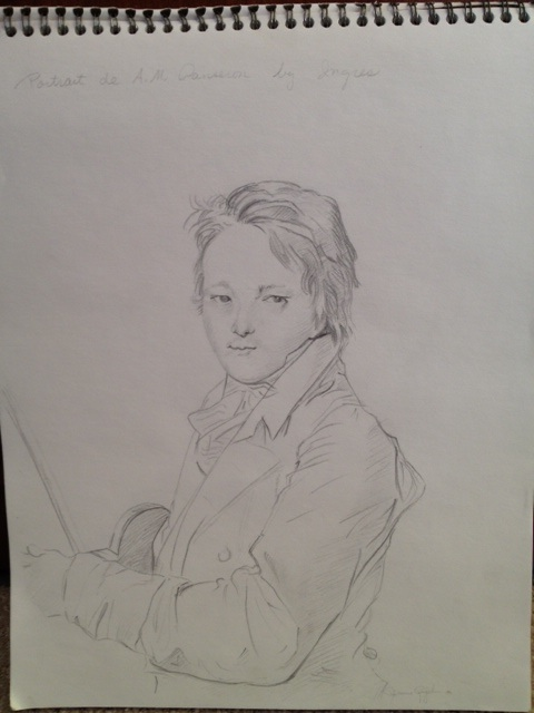 JS drawing of Ingres from UCSB 1981