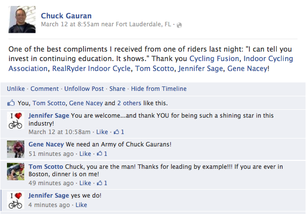 Chuck guaran compliment on ica education