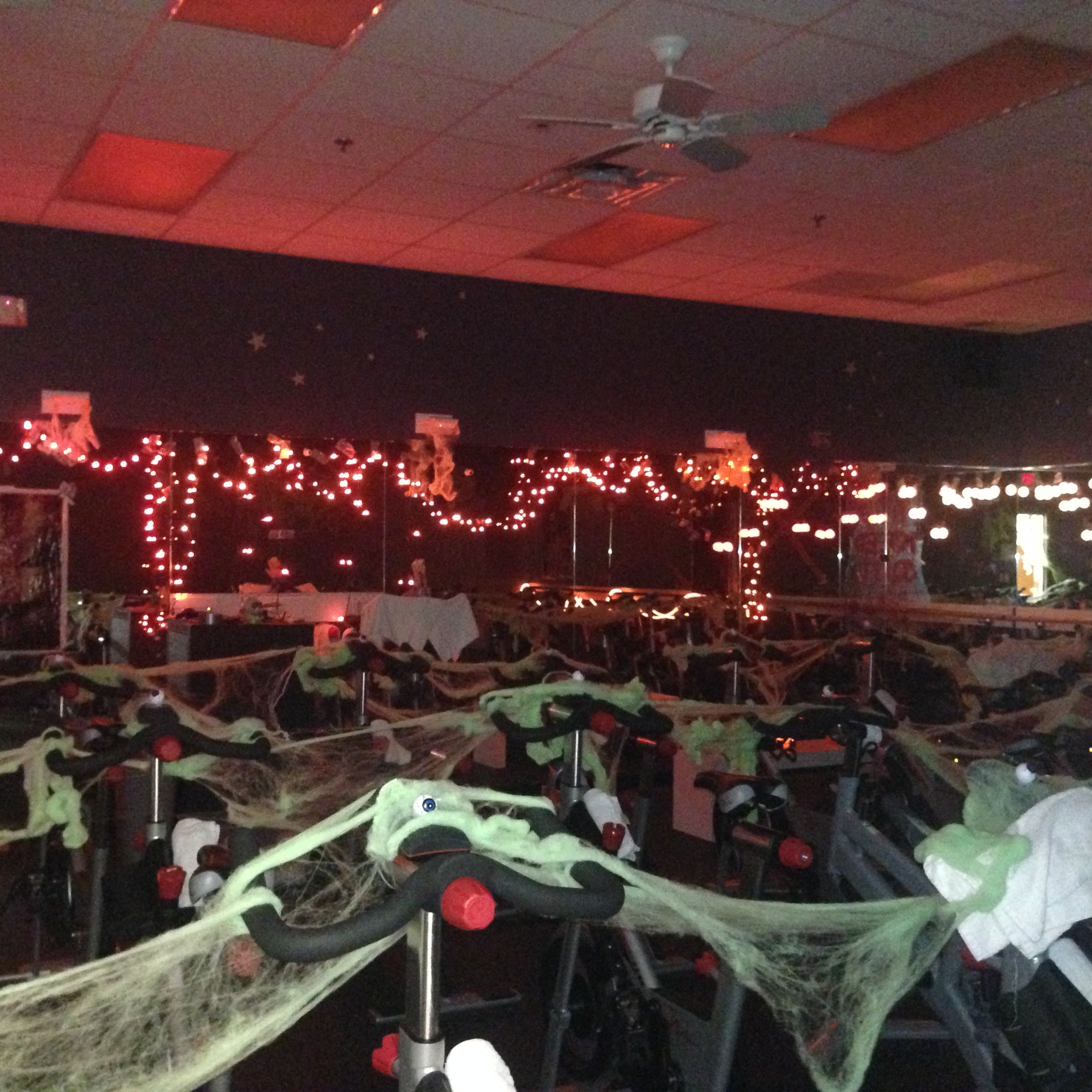 Halloween decorations Sachs Rec Center Deefield IL Carol King- took 5 hrs to set up