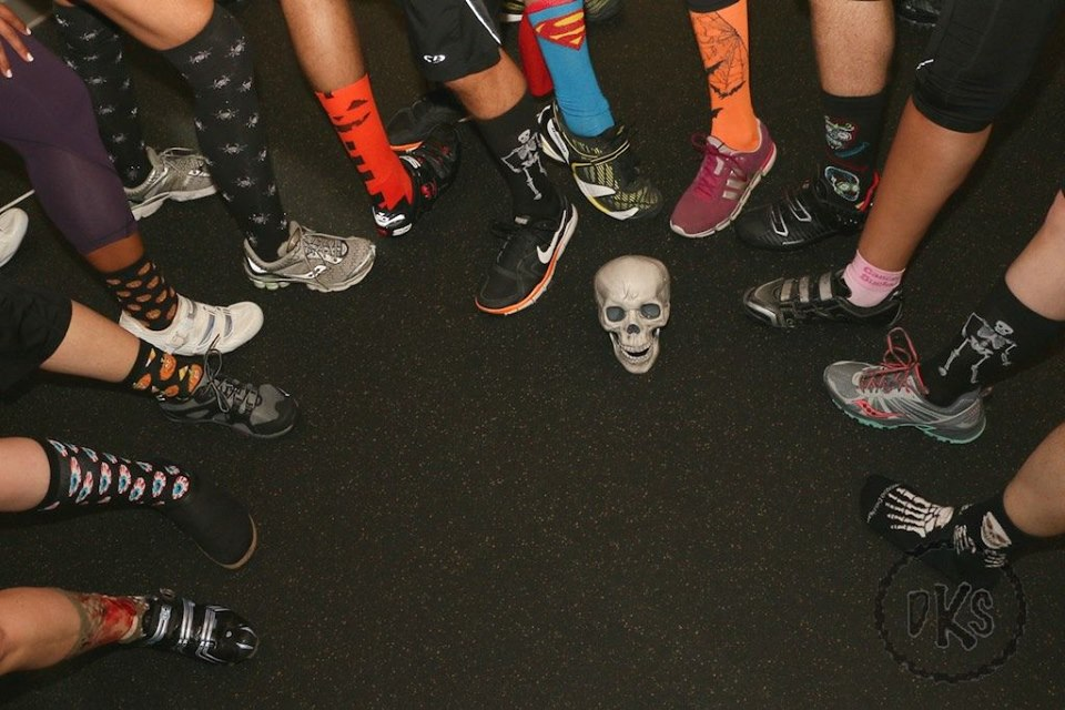 Halloween theme - scary socks ride Billy coburn Ride the Nightmare